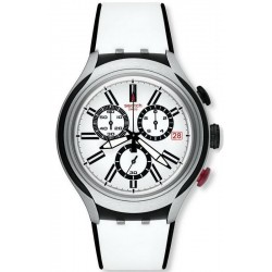 Swatch Men's Watch Irony Xlite Black Wheel Chronograph YYS4005