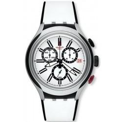 Swatch Men's Watch Irony Xlite Black Wheel Chronograph YYS4005