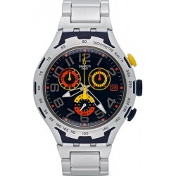 Swatch Men's Watch Irony Xlite Darkony Chronograph YYS4006AG