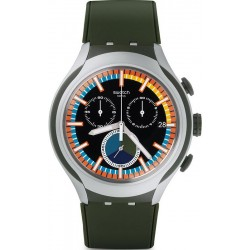 Swatch Men's Watch Irony Xlite Moss Chronograph YYS4009