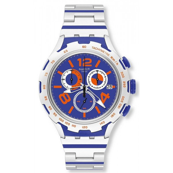 Buy Swatch Men's Watch Irony Xlite Chemical Blue Chronograph YYS4011AG