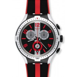 Swatch Men's Watch Irony Xlite Stripes Chronograph YYS4013