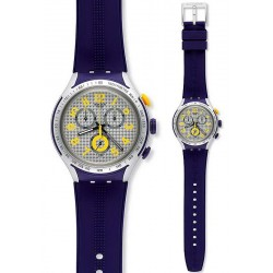 Swatch Men's Watch Irony Xlite Yellow Pusher YYS4014 Chronograph