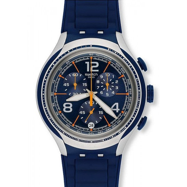 Buy Swatch Men's Watch Irony Xlite Blue Face YYS4015 Chronograph