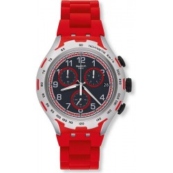 Swatch Men's Watch Irony Xlite Red Attack YYS4018AG Chronograph