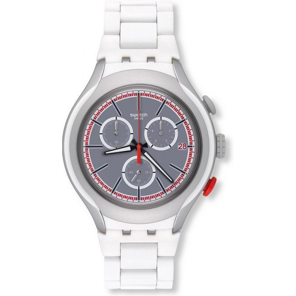 Buy Swatch Men's Watch Irony Xlite White Attack YYS4019AG Chronograph