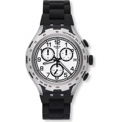 Swatch Men's Watch Irony Xlite Black Attack YYS4020AG Chronograph