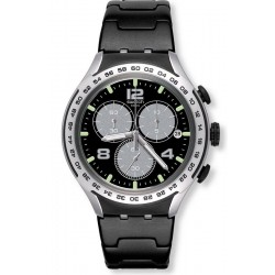 Swatch Men's Watch Irony Xlite Night Attack YYS4026AG Chronograph