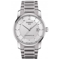 Tissot Men's Watch T-Classic Powermatic 80 Titanium T0874074403700
