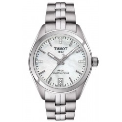 Tissot T1012071111600 T-Classic PR 100 Powermatic 80 Diamond Mother of Pearl Automatic Women's Watch
